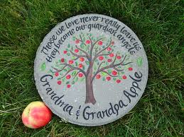 memorial stepping stones memorial stepping personalized garden apple