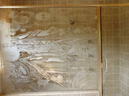 Etched Shower Doors Custom Shower Doors Etched And Painted