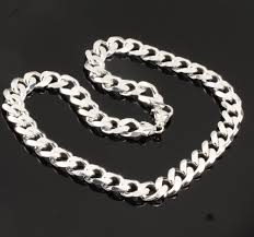 solid sterling silver necklace images Super heavyweight solid sterling silver men 39 s curb chain 13mm width jpg