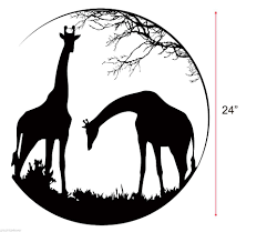 popular wall stickers animals black buy cheap wall stickers african animal south africa giraffes glass mural wall decal wall sticker black removeable animal room sticker