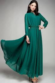 maxi dress with sleeves modest length sleeve green maxi dress mode sty