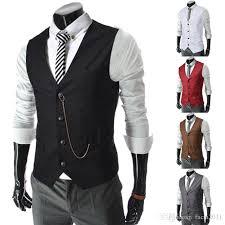 2018 2017 sale mens v neck slim fit zipper vests suit casual