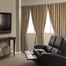 home theater curtain ideas furniture extra long curtains with brown curtain and brown wooden