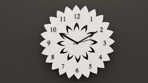 designer marigold style home decor corian wall clock