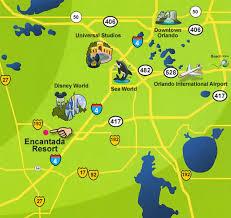 map of kissimmee encantada resort kissimmee florida location