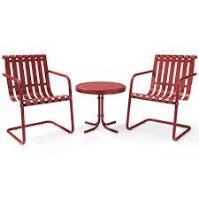 Patio Spring Chair by Amazon Com Crosley Furniture Gracie 3 Piece Retro Metal Outdoor