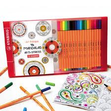 Coffret de coloriage antistress Pen 88  1 carnet à colorier