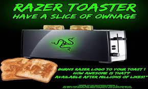 Arsenal Toaster Give Us The Razer Toaster One Million Likes Youtube