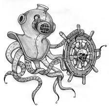 diver u0027s helmet octopus by jentheripper on deviantart