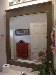 bathroom wall mirror with black painted wooden frame mixed white