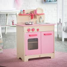 Childrens Toy Wooden Kitchen Have To Have It Hape Pink Gourmet Play Kitchen With Accessories