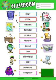 classroom esl matching exercise worksheet for kids mau hinh