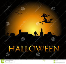 halloween night background halloween night in town vector stock images image 21516514