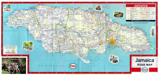 Road Map United States by Large Detailed Road And Physical Map Of Jamaica Jamaica Large Map