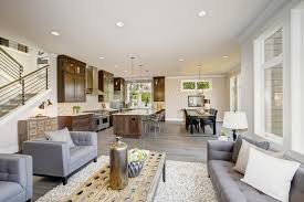 room home luxury style modern interior download hd luxurious new construction with open plan interior stock photo