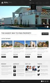 black and white real estate drupal template 43557