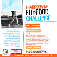 thanksgiving fit for food challenge fitness on the run