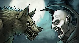 how to draw a werewolf vs vampire step by step werewolves