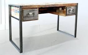 bureau design bois bureau industriel metal et bois maison design bahbecom bureau design