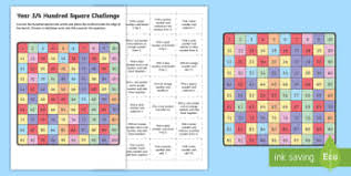 year 3 4 hundred square challenge activity sheet australian