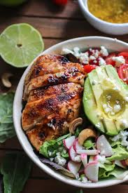 lime grilled honey lime chicken salad with easy vinaigrette u2022 fit