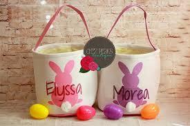 bunny easter basket easter buckets bunny basket personalized easter basket