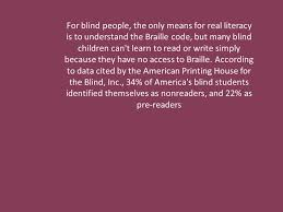 Blind Write Dealing With Blind People By Nancy Gamboa How Would They Like To