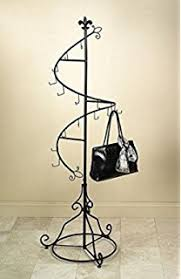 amazon com displays2go tall multi tiered rotating wrought iron