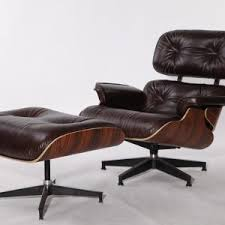 furniture modern black letaher swivel eames lounge chair replica