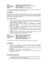 Hvac Installer Job Description For Resume by Download Controls Technician Job Description