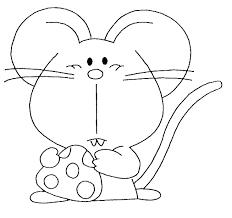 imagenes de ratones faciles para dibujar ratón 3 animales páginas para colorear