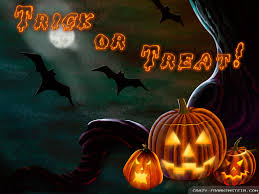 trick or treat halloween background trick or treat wallpaper backgrounds