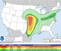 new york times forecast dial severe weather possibly with tornadoes is forecast for plains