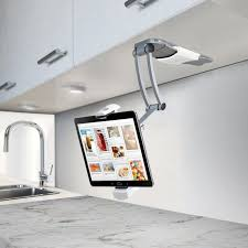 laundry gadgets 2 in 1 kitchen mount stand with bluetooth speaker for ipad u0026 other