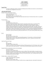 warehouse worker resume general maintenance resume restama info