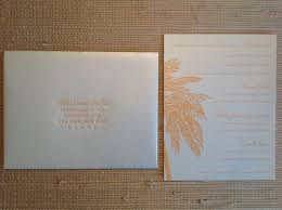 palm tree wedding invitations invitations palm tree motif hooper calligraphy