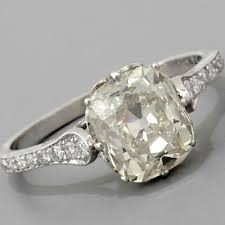 vintage cushion cut engagement rings fay cullen archives rings cushion cut engagement ring