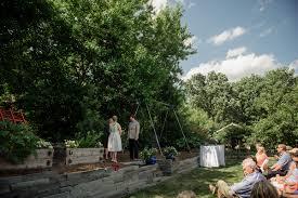 twin cities backyard wedding kirsten and erik mn wedding