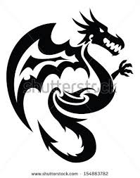 tattoo tribal dragon tribal tattoos art stock vector 604549877