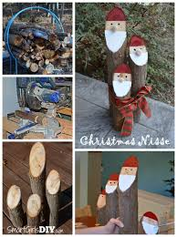 danish nisse christmas craft santa logs