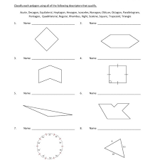 eighth grade classifying polygons worksheet 10 u2013 one page worksheets