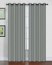 Grommet Curtains 63 Length Unbranded Solid Pattern Unlined Panels With Grommet Curtains Ebay