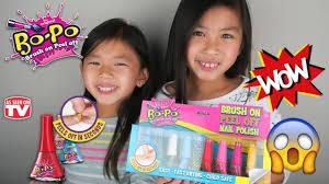 bo po brush on peel off nail polish for kids as seen on tv nail