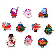 new year supplies 100pcs lot flash brooches christmas lighting style supplies new