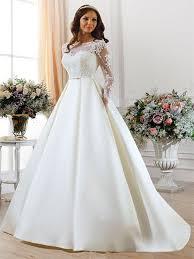 online get cheap long sleeve simple wedding dress aliexpress com