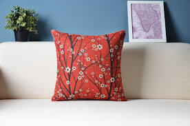 oriental cherry blossoms japanese style decorative cushions cases