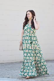 green tiered floral maxi dress a classic ambition