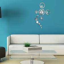 home decor drop shipping 1pc modern 3d home decoration wall clock modern design stickers