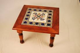Mexican Dining Room Furniture by Blue Tile Table In Pine Mcnitt Bros Wood Works Tucson Custom