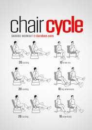exercice au bureau chair cycle workout fitness musculation exercices